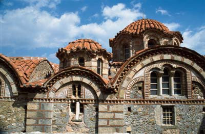 Roof Tiles on Mystra in Peloponnese, Greece