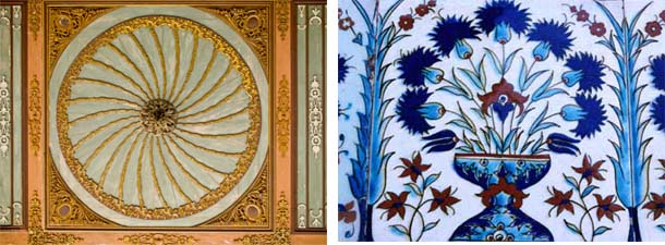 Tile Work in Topkapi Palace, Istanbul, Turkey