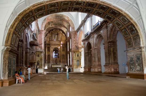 Interior of the St Francis of Assisi Church, Goa