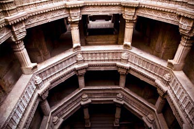 Adalaj is an architectural wonder, a Step well built by Queen Rudabai, Gujarat. It is a seven-storied underground Step well.