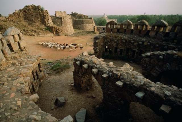 The ruins of Tughlaqabad, India