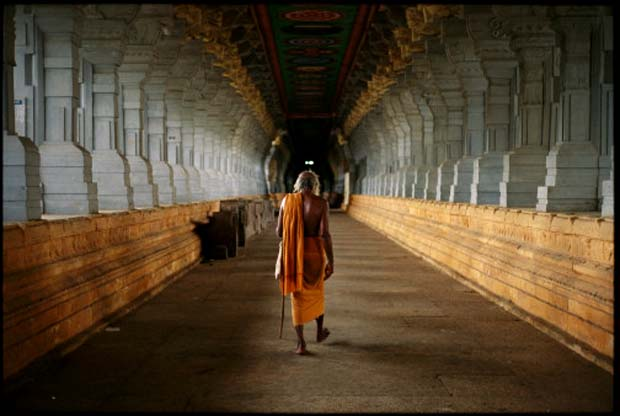 Corridors of  Rameswaram Temple, Rameswaram, India
